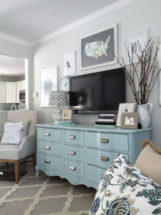 Love this dresser in the living room
