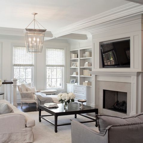 Designing A Living Room With A Fireplace And Tv Endearing 105 Best F A M I L Y R O O M S Images On Pinterest  Living Room Design Inspiration