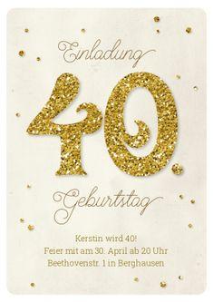 143 besten 40 Geburtstag Einladungskarten Bilder auf Pinterest