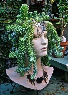 Eight DIY Garden Projects Using Mannequins  . Head PlantersSucculent ...