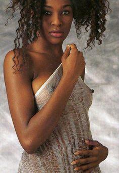 Nude female black model