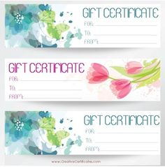 free gift certificates templates download