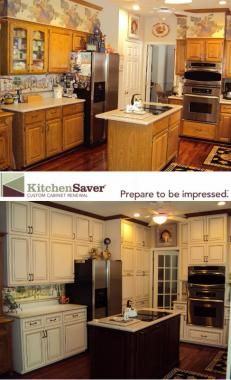 Beautiful Kitchen Saver Transformed A Crowded Kitchen Into A Beautiful White #kitchen  Full Of Storage At