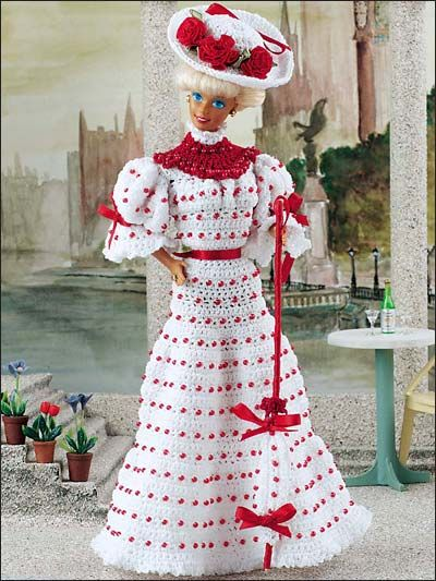 272 best Barbie\'s crochet fashions!! images on Pinterest   Barbie ...