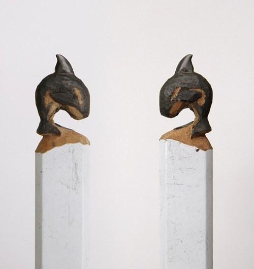 Best ArtPencil Carved Crayon Images On Pinterest - Artist carves miniature pop culture sculptures into pencils