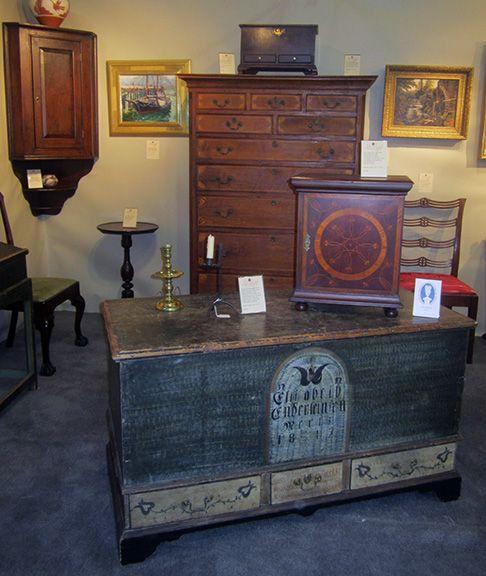 The 2016 Main Line Antiques Show | Maine Antique Digest - 133 Best Antiques Show Booths Images On Pinterest Beautiful