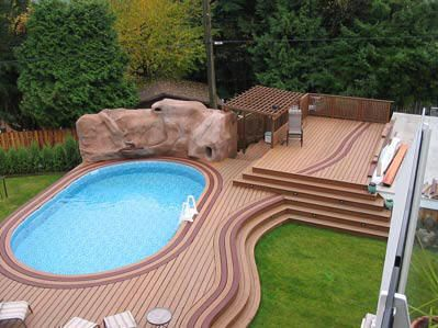 126 best Above Ground Pool Decks images on Pinterest | Above ground ...