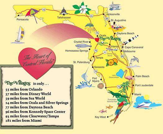 villages florida map neighborhoods