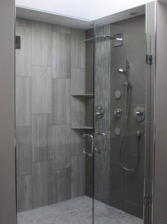 c actually wall gives tiles bathroom that illusion rooms are tile the than gray larger large they