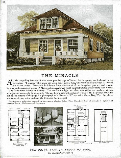 Old craftsman bungalow house plans for Vintage bungalow house plans