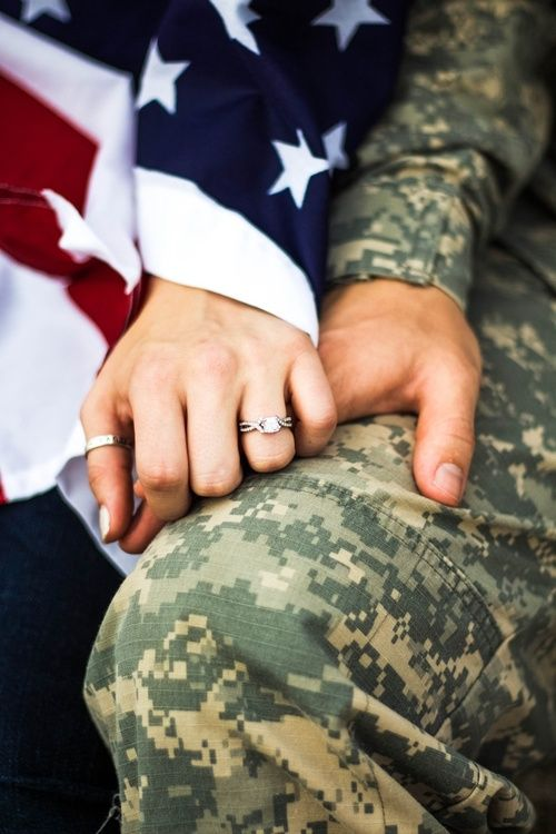 Army Couple Holding Hands