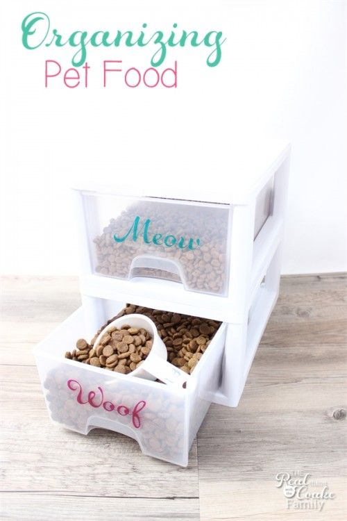 Organizing Pet Food With A Little Cuteness Ideas