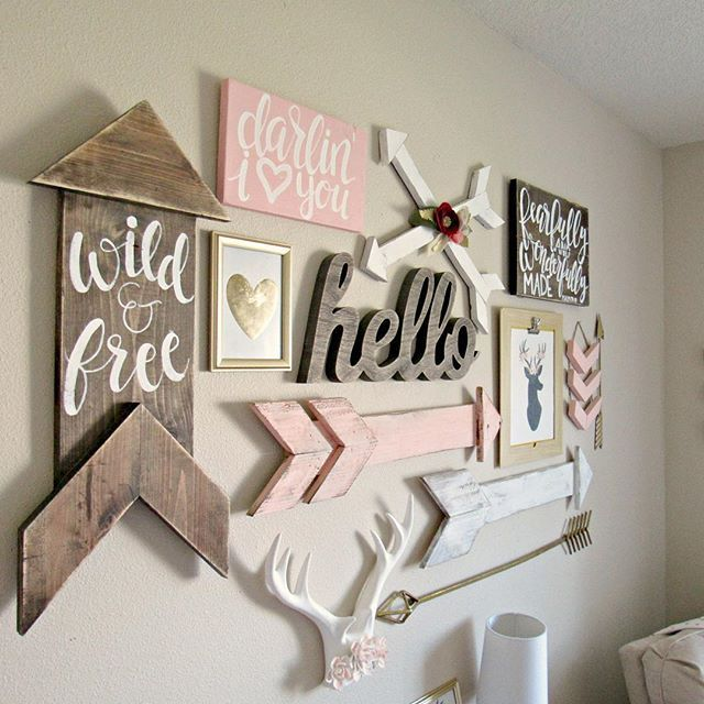 Boho woodland baby girl nursery girls room wall decordiy