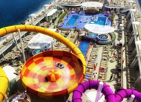 Best Cruise Waterslides Images On Pinterest Cruises Princess - Best cruise ship water slides