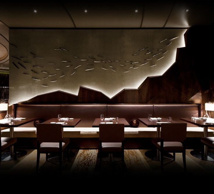 Elegant Nobu Japanese Restaurant Interior Design