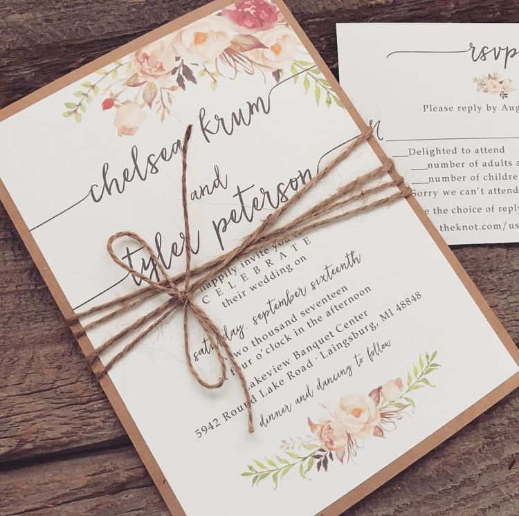 diy rustic wedding invitations burlap%0A      best Creative Custom Prints images on Pinterest   Bohemian weddings  Wedding  invitation sets and Boho wedding