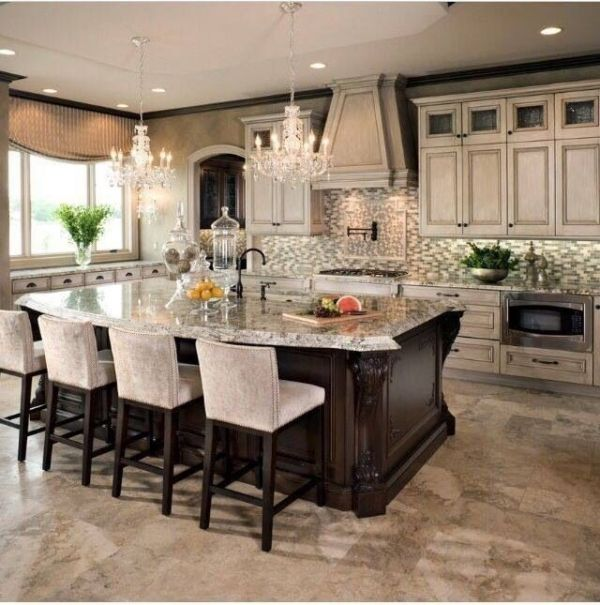 Center Island Designs For Kitchens Impressive 671 Best Dream Kitchens Images On Pinterest  Beautiful Kitchen Review