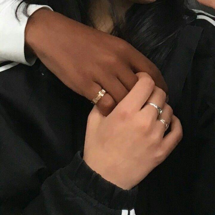 Interracial Lesbians Hands