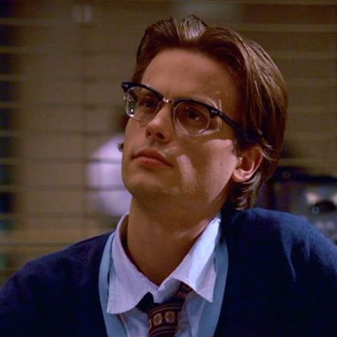 spencer reid with glasses