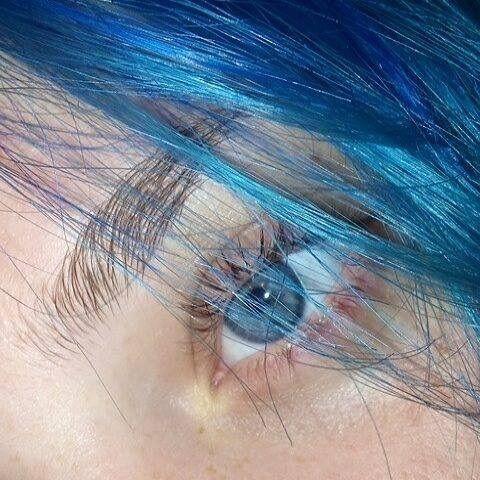 Blue Hair Tumblr Photography 47659 Loadtve